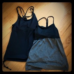 2 champion workout tanks built in bra